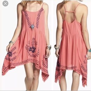 Free People Meadows Medallion Embroidered Dress